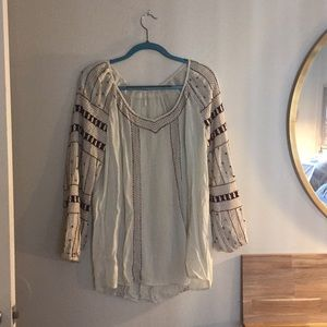 Free people beaded tunic beach cover up